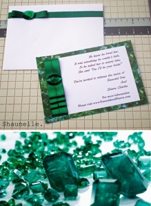 #Emeraldgreen #pantone2013 #invitation  #handmadeinvitations #weddinginvitation #stationerydesign #handmade #shaunelle