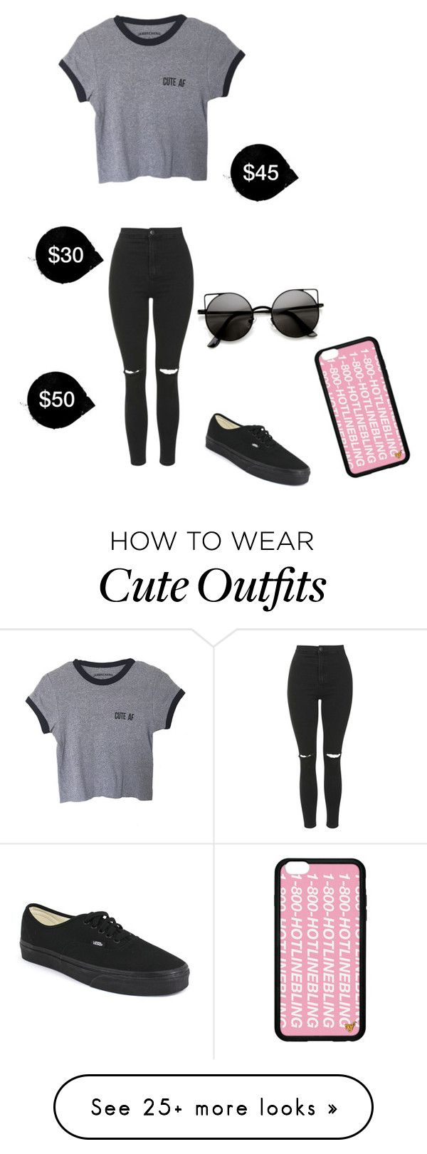 """My First Polyvore Outfit"" by arkadelphia on Polyvore featuring moda, Topshop y Vans"