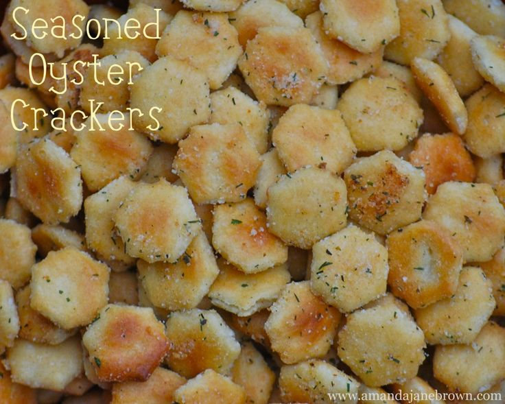 Seasoned Oyster Crackers | Amanda Jane Brown...My grandmother use to make this every holiday for us kids...good memories.