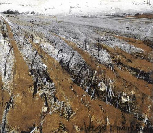 "anselmkieferruins: "" Anselm Kiefer, ""Wege Markischer Sand"", 1980 """