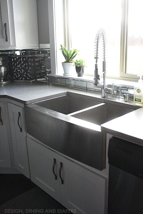 best 25 stainless steel farmhouse sink ideas on pinterest deep sink stainless farmhouse sink. Black Bedroom Furniture Sets. Home Design Ideas