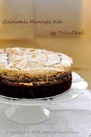 çikolatalı merengli kek