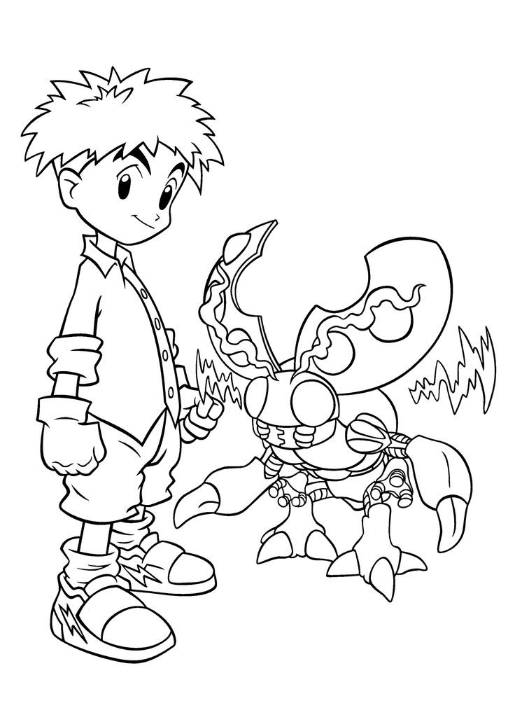 59 best Digimon Coloring Pages images on Pinterest Digimon