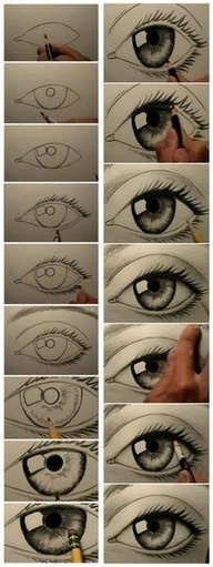 Diy / How to draw an eye / Art / do it yourself / oog / kunst