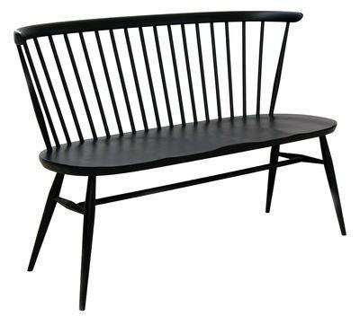 Bank Love Seat / L 117 cm - Neuauflage des Originals von 1955, Schwarz von Ercol finden Sie bei Made In Design, Ihrem Online Shop für Designermöbel, Leuchten und Dekoration.