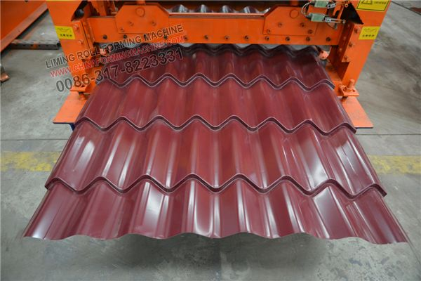 #Step #Tile #Roofing #Panel #Roll #Forming #Machine processing galvanized steel thickness 0.3-0.6mm,more customers use 1250mm,1200mm,1000mm coil.We can customized it as your request.Glazed tile is very popular design in all over of the world,it is used for roof.