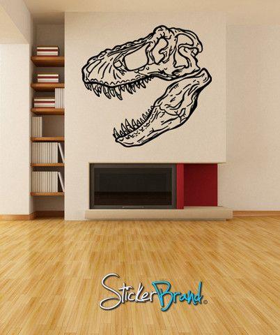 Vinyl Wall Decal Sticker Dinosaur Dino T Rex Skull Head #KRiley120 Part 70
