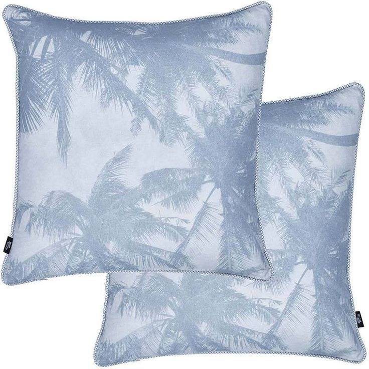 An update on the palm tree trend with shades of trending navy, I'm the perfect addition to keep the summer vibes all year round. Professionally printed on a pre