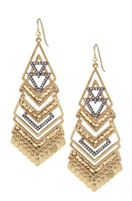Gold Statement Chandelier Earrings | Stella & Dot REPIN FOR A CHANCE TO WIN OR SHOP NOW AT http://www.stelladot.com/denikaclay