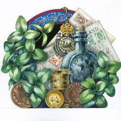 Заставка-натюрморт с монетами