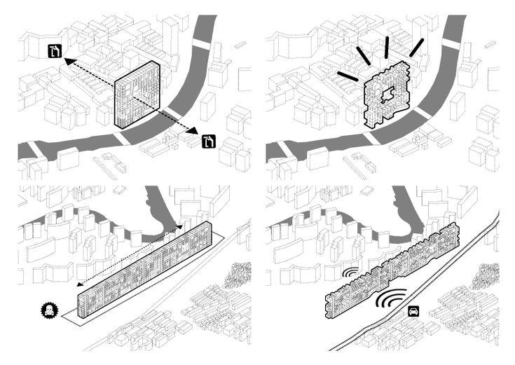 pinkcloud: flip city: Architecture Diagrams, Axonometr Drawings, Process Diagrams, 0 Architecture Drawings, 0Architectur Drawings, Design Process, Flip Cities Shanghai, Arches Drawings, Architecture Visual