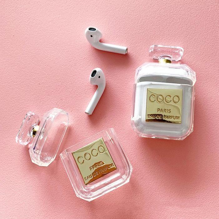 Coco Perfume Airpods Case – Einzigartige Desigh, voller Schutz, einfach zu laden   – Mode