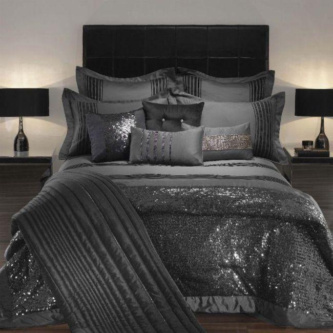 Luxus Bettwasche Von Kylie Minogue Satin Pailetten Und Edle