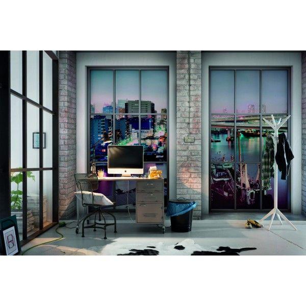 Photo murale Loft - Komar #design #trompel'oeil #window http://www.papierspeintsdirect.com/posters/collection-into-illusions-ed-1.html