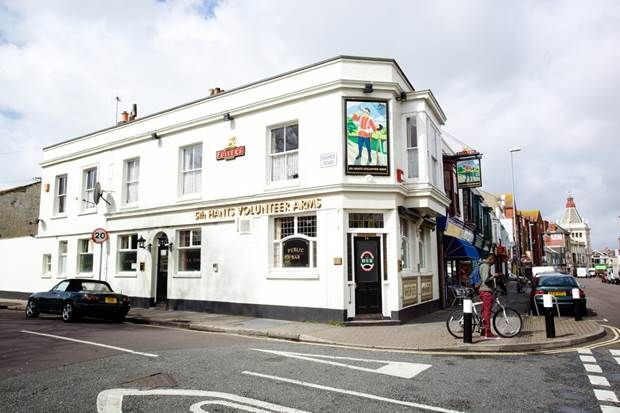 5th Hants Volunteer Arms in Southsea where little has changed since Victorian times.