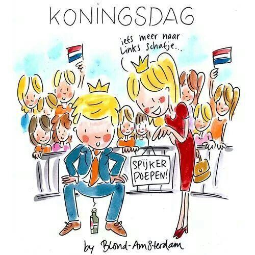 Blond koningsdag