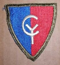 GREENBACK - WW2 ERA THIRTY-EIGHTH (38th) DIVISION INSIGNIA PATCH