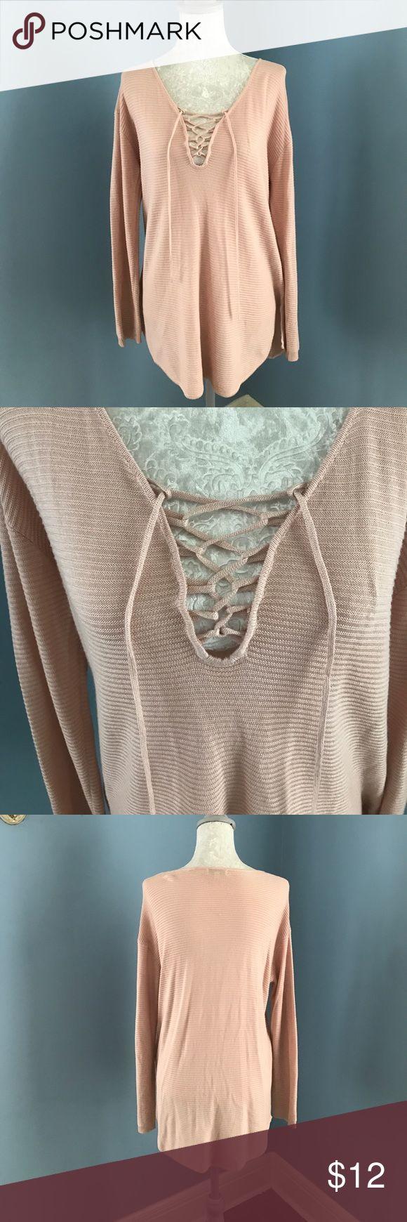 Blush pink slouchy shirt Blush pink slouchy shirt JustFab Tops