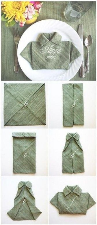Dinner for Father's Day---or could be cute with patterned paper on a card!