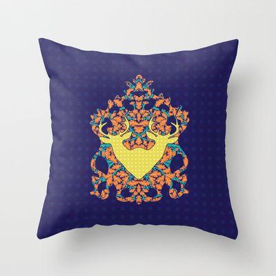 Climbing Waltz : Twins Throw Pillow by Geetika Gulia - $20.00