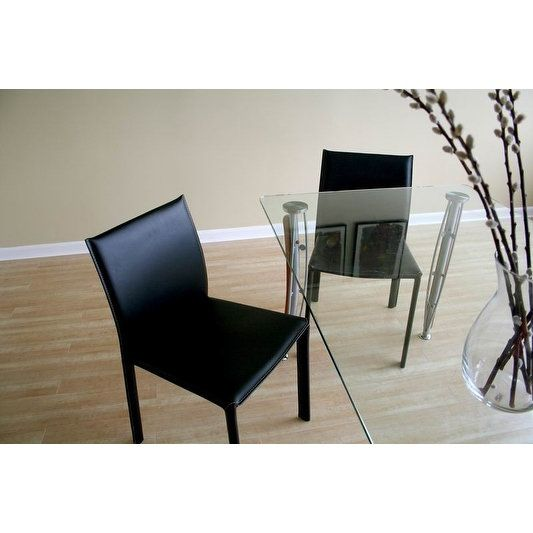 Burridge Black Leather Dining Chair - 2 Chairs