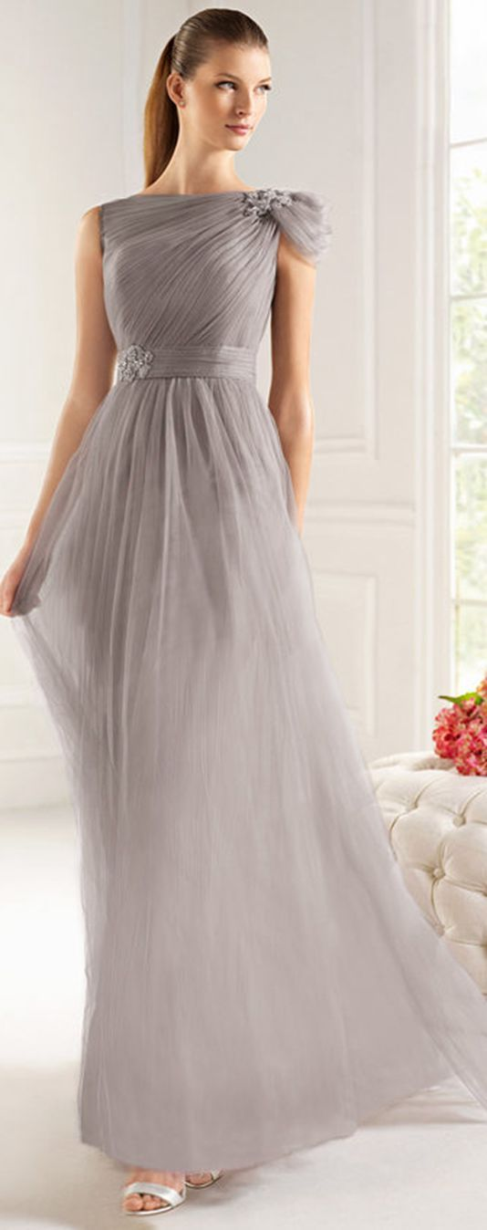 Charming A-line Off-the-shoulder Beading Ruching Floor-length Tulle Cocktail Dresses