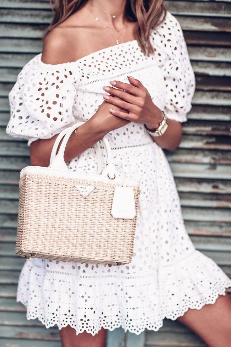 Summer 2017 must have bags - Prada wicker tote bag