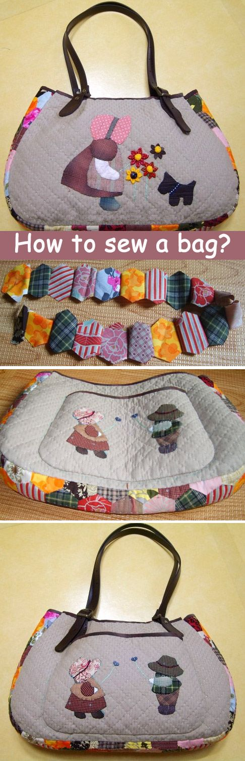 Japanese patchwork tutorial  zipper quilted appliqué handbag. DIY tutorial in pictures.  http://www.handmadiya.com/2015/09/quilt-bag-japanese-patchwork-tutorial.html