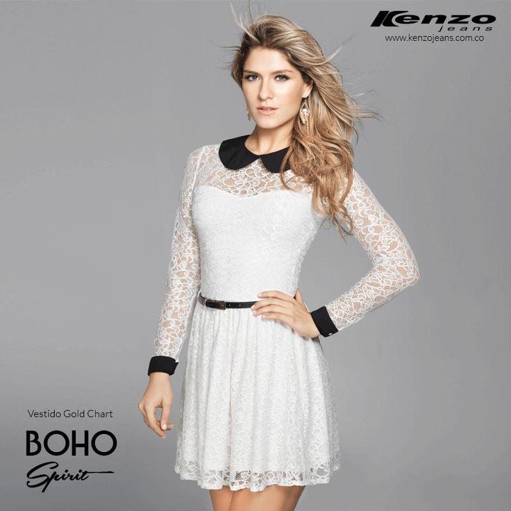 Vestidos con sutiles transparencias que le dan un toque de elegancia y sensualidad a tu outfit #KenzoJeans #BohoSpirit  Conoce más en www.kenzojeans.com.co