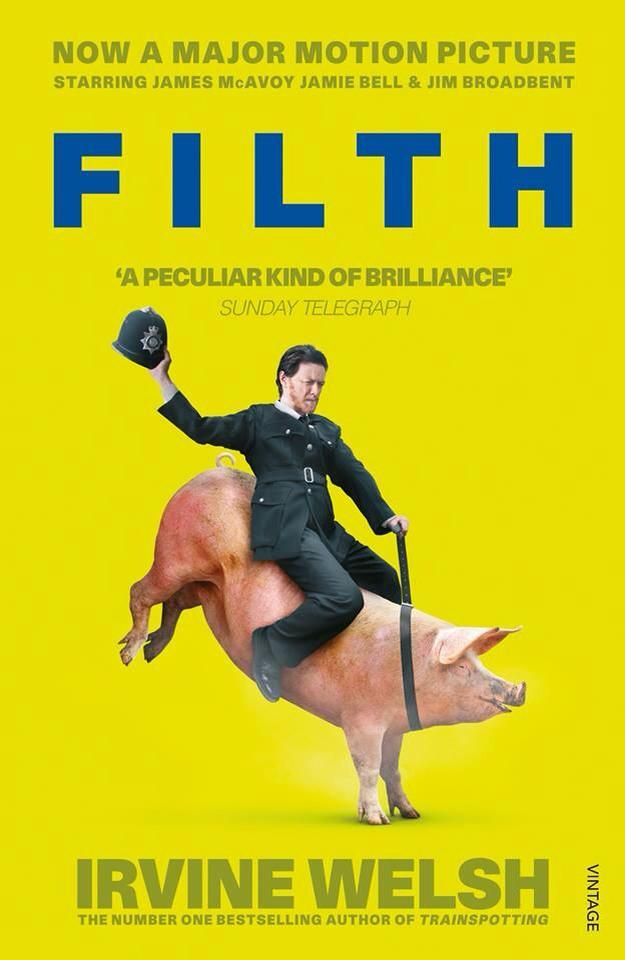Filth (2013) by Jon S. Baird. A very dark hilarious comedy based on the book by Irvine Welsh.