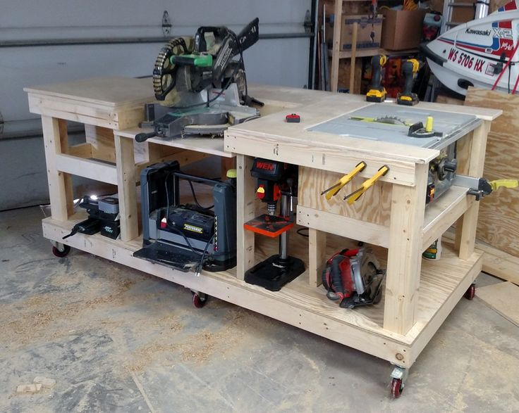 mobile woodworking bench