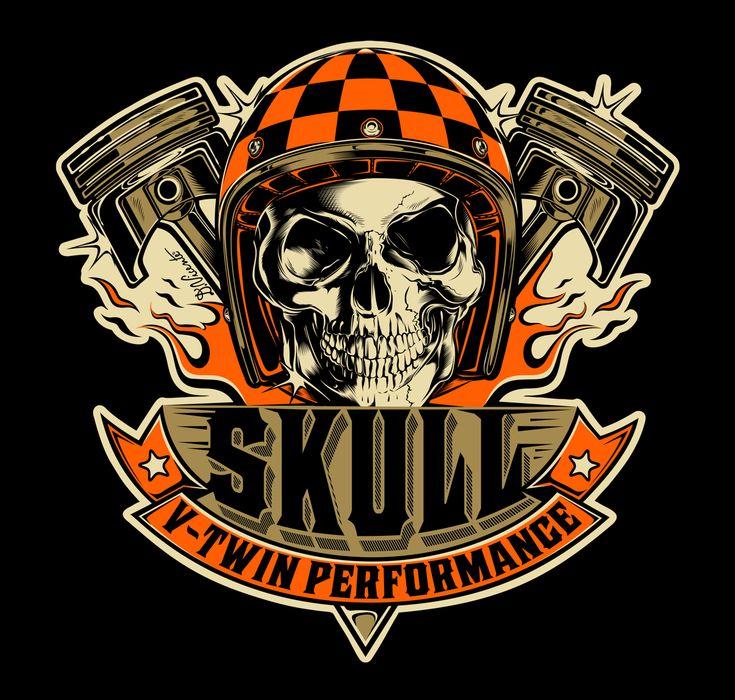 Logo design SKULL V-TWIN PERFORMANCE - Brazil...2016 !!!