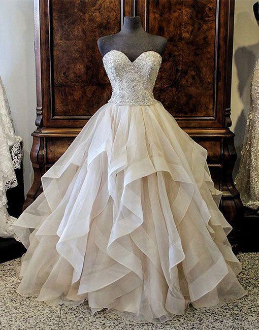 champagne long prom dress, evening dress, formal dress