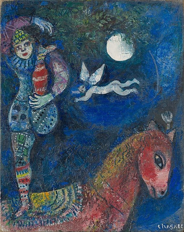 'The Circus Rider' - Marc Chagall  https://www.artexperiencenyc.com/social_login/?utm_source=pinterest_medium=pins_content=pinterest_pins_campaign=pinterest_initial