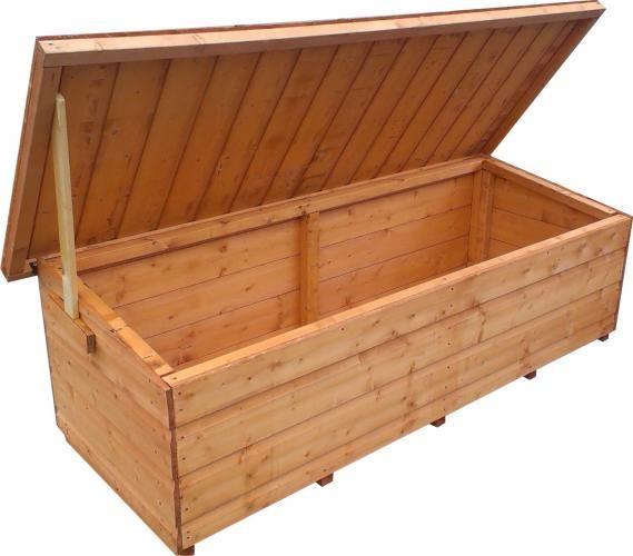 17 mejores ideas sobre bancos de almacenamiento exterior for Armario madera jardin
