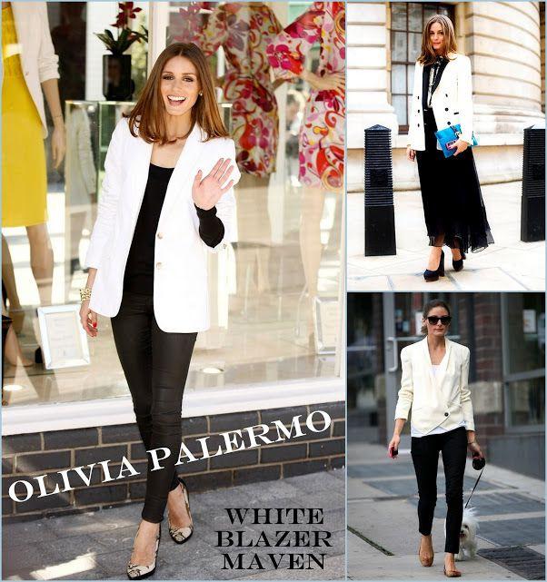 Olivia Palermo white blazers