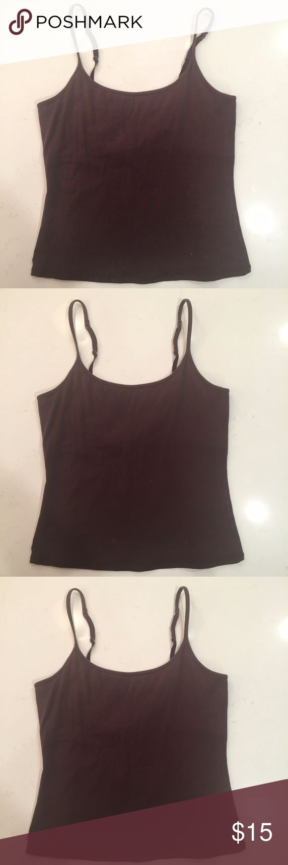 Lady Foot Locker Cami Tank with shelf bra Lady Foot Locker Cami Tank with shelf bra Size: M Adjustable straps Brown See photos for condition. Lady Foot Locker Tops Camisoles