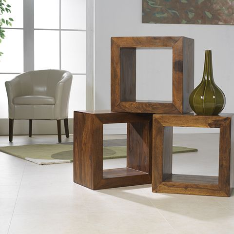Wonderfully individual hand crafted pieces of occasional furniture from our Cuba Collection - made from solid sheesham wood and available to buy in store or online at