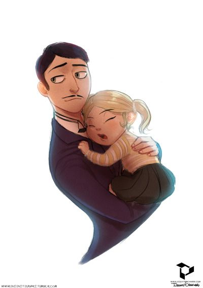 Headcanon that he acted more like her father than her actual father.