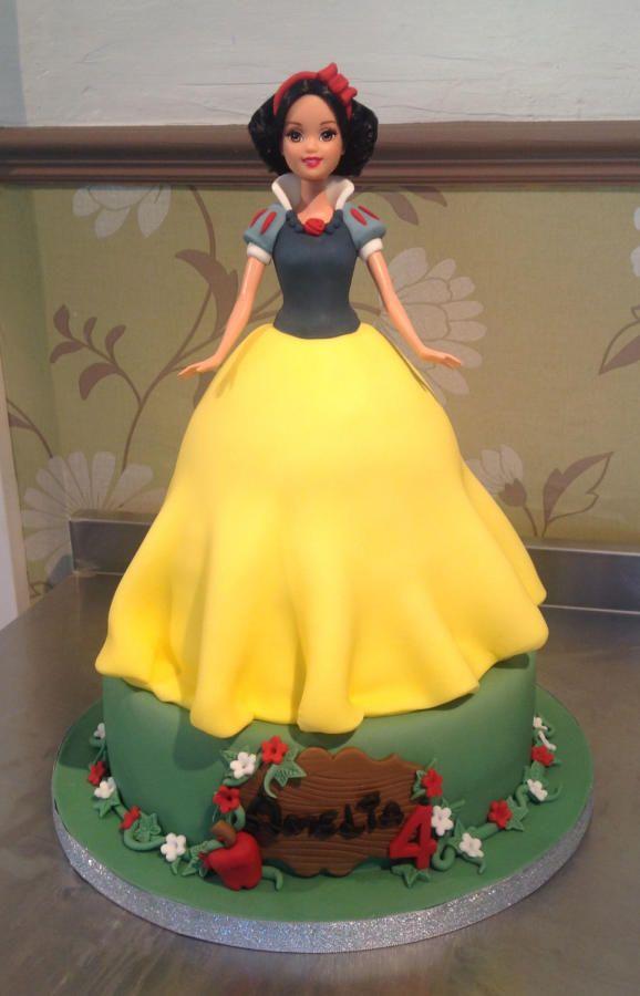 Snow White doll cake
