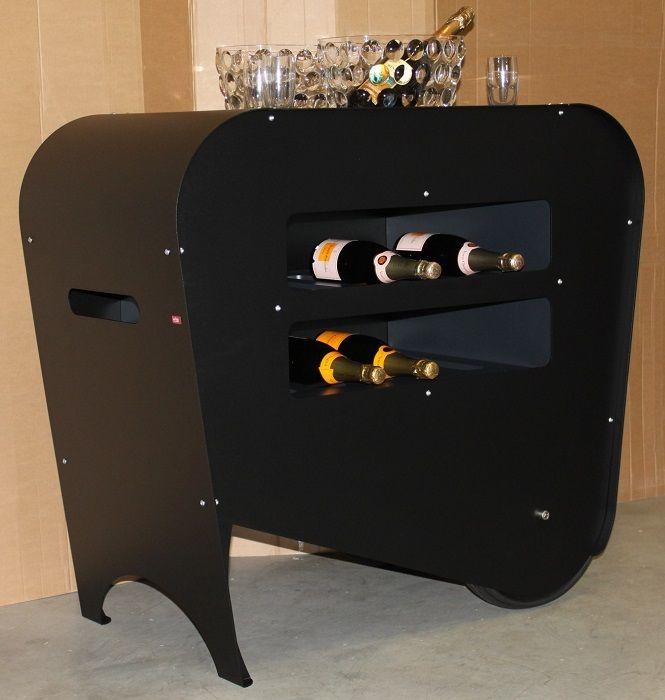 Carrello #portabottiglie Esigo - Total Black Version _ Esigo #wine bottles trolley - Total Black Version