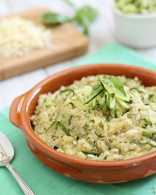 Cheesy Zucchini Quinoa | Recipe