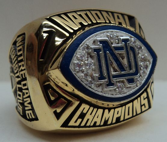 1988 Notre Dame Football Championship Ring    I love my Fighting Irish, so much, that I'd wear this every day for the remainder of my life!  I would then pass it on to one of my Sons!    Definitely an heirloom piece for the men in my Irish family (the Kelly Clan from Ireland & Scotland)!  Let's go Irish, let's go Notre Dame!