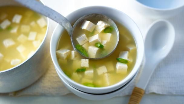 Spring miso soup        Miso soup is deliciously savoury and comforting. With a good quality stock, this dish takes only a few minutes.