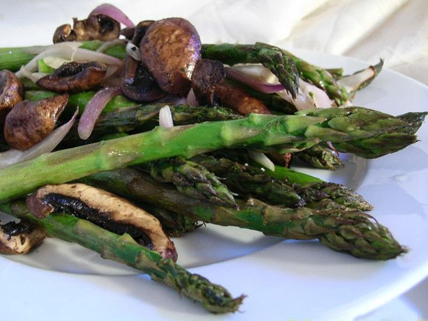 One of our favorite ways to make asparagus. We love all of the ingredients and this is great for company because you can make it up ahead of time and just pop in the oven when ready. This can easily be scaled down from 12 servings. From epicurious.com.