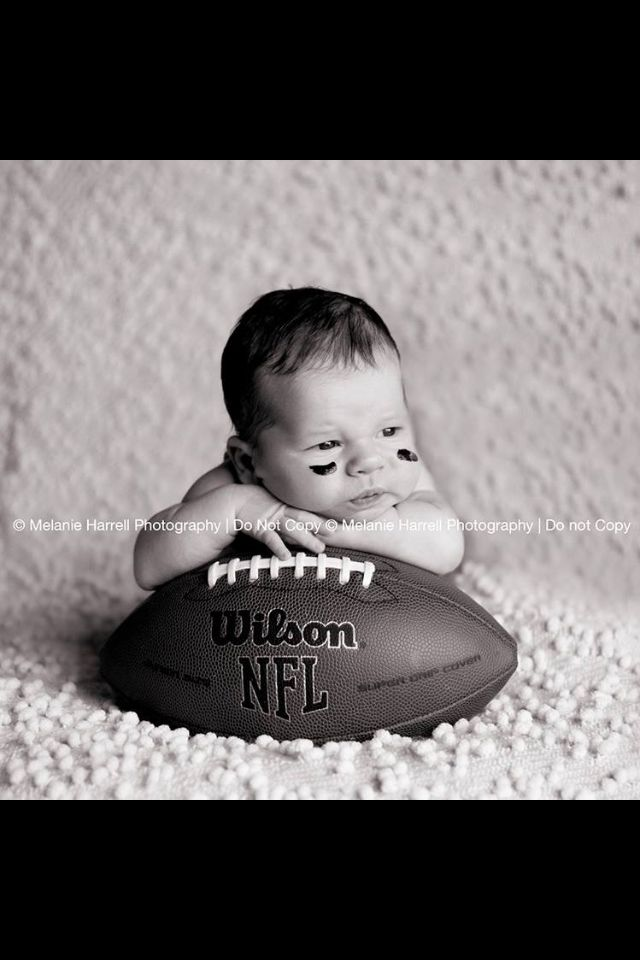 Newborn picture! (Just would replace the football with a basketball)