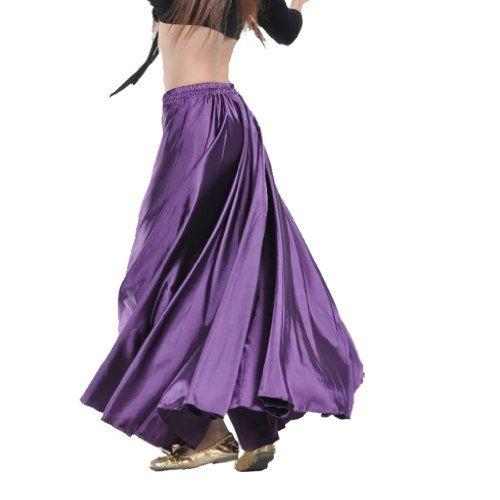 Elegante Lila Satin, lang, Bauchtanz Performance hier Kost�m Rock