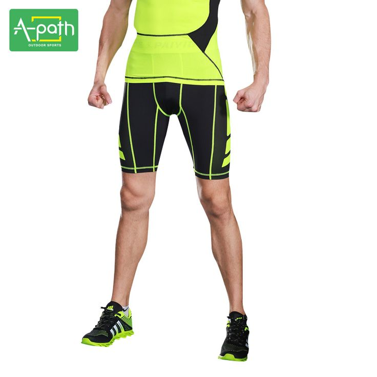 2017 New Summer Outdoors Quick-dry Male Fitness Running Tights Mens Sport Leggings Crossfit Yoga Shorts for Men bodysuit ** AliExpress Affiliate's buyable pin. Detailed information can be found on www.aliexpress.com by clicking on the VISIT button #Yogapants