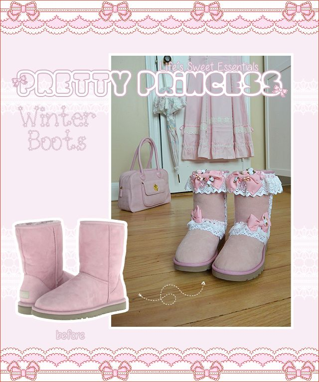 DIY Upcycle: Deco Hime Lolita Winter Boots