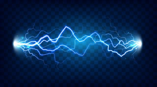 Power Electrical Energy Lightning Spark Or Electricity Effects Realistic Isolated Blitz Illustration On Checkered Background Electrical Energy Electricity Lightning